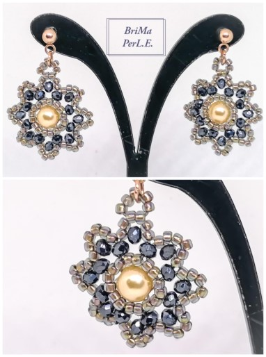 BriMa PerL.E. Unikatschmuck - Flower Earrings